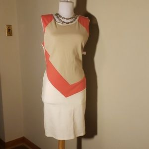 Crystal Doll color block dress. Size 9/10